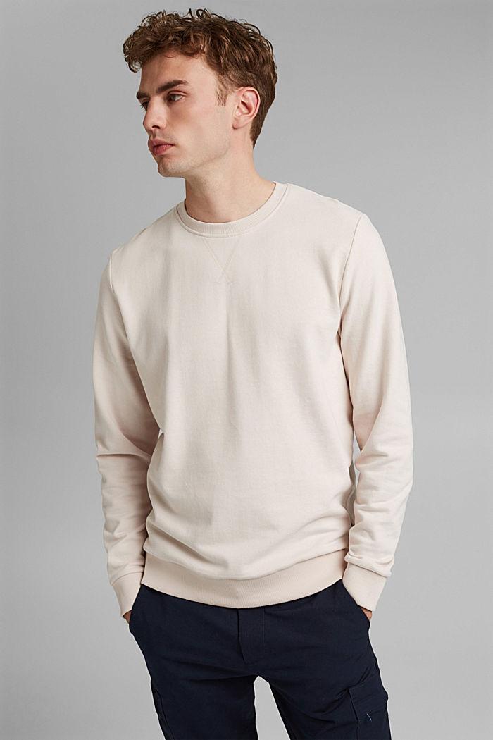 Sweatshirt van 100% katoen, CREAM BEIGE, detail image number 0