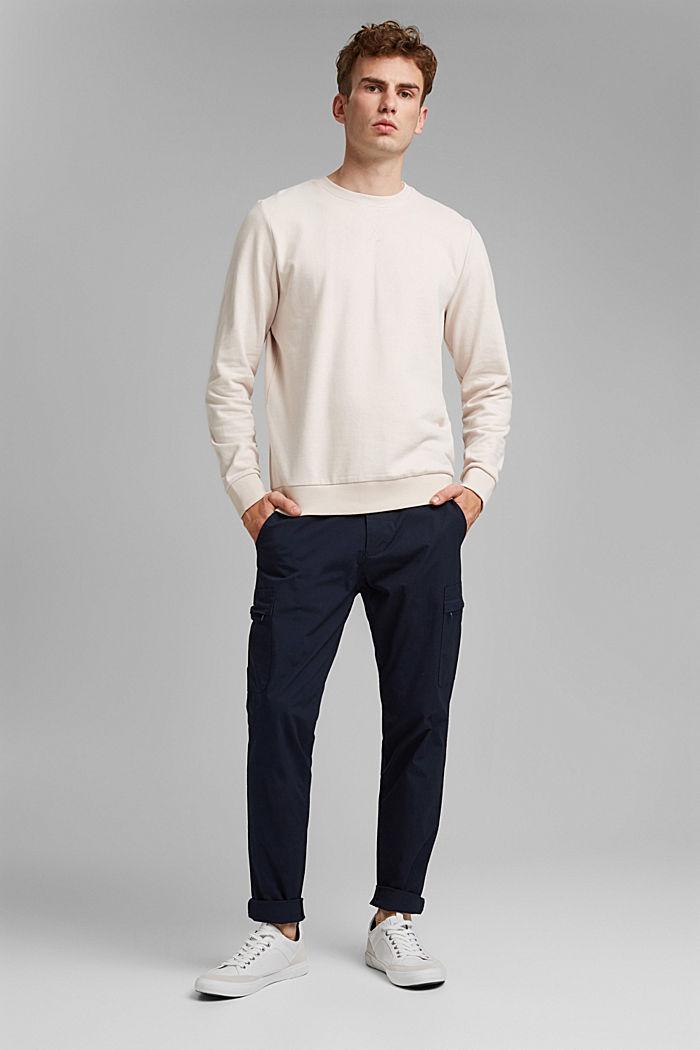 Sweatshirt van 100% katoen, CREAM BEIGE, detail image number 1