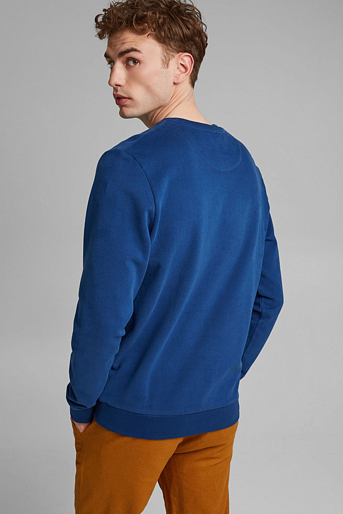 Sweatshirt in 100% cotton, DARK BLUE, detail image number 3