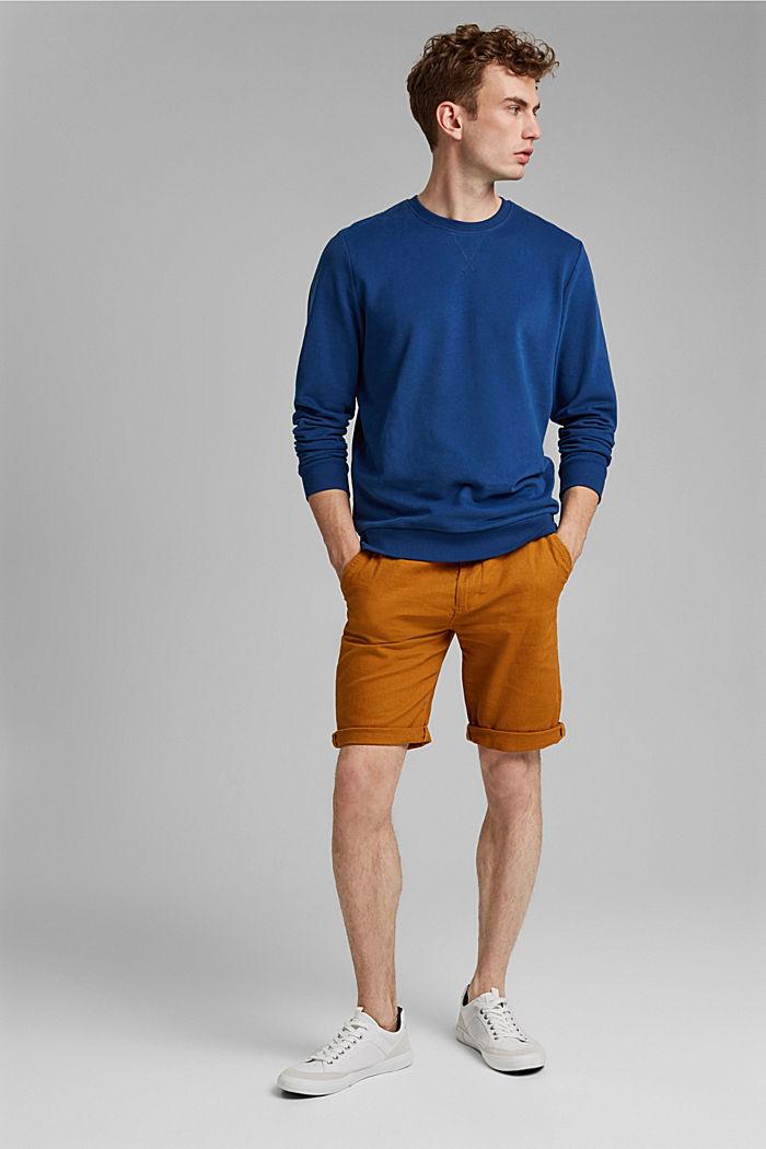 Sweatshirt in 100% cotton, DARK BLUE, detail image number 1