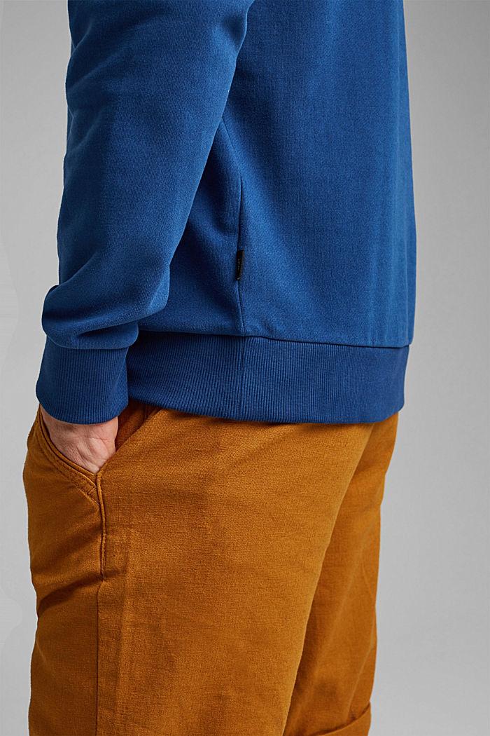 Sweatshirt in 100% cotton, DARK BLUE, detail image number 2