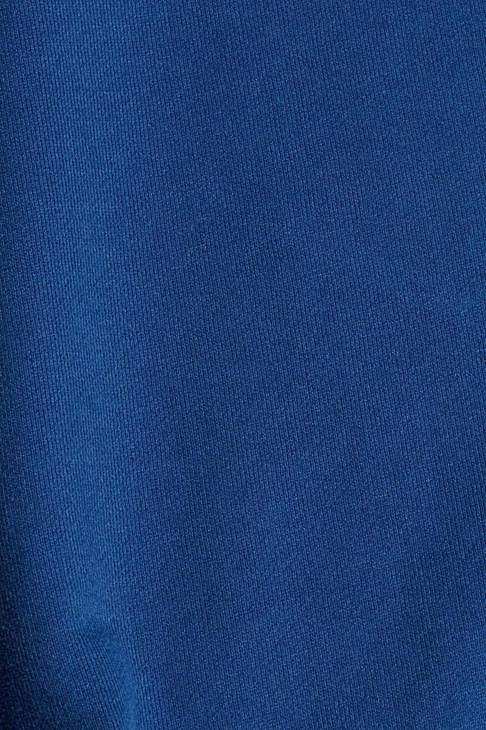 Sweatshirt in 100% cotton, DARK BLUE, detail image number 4