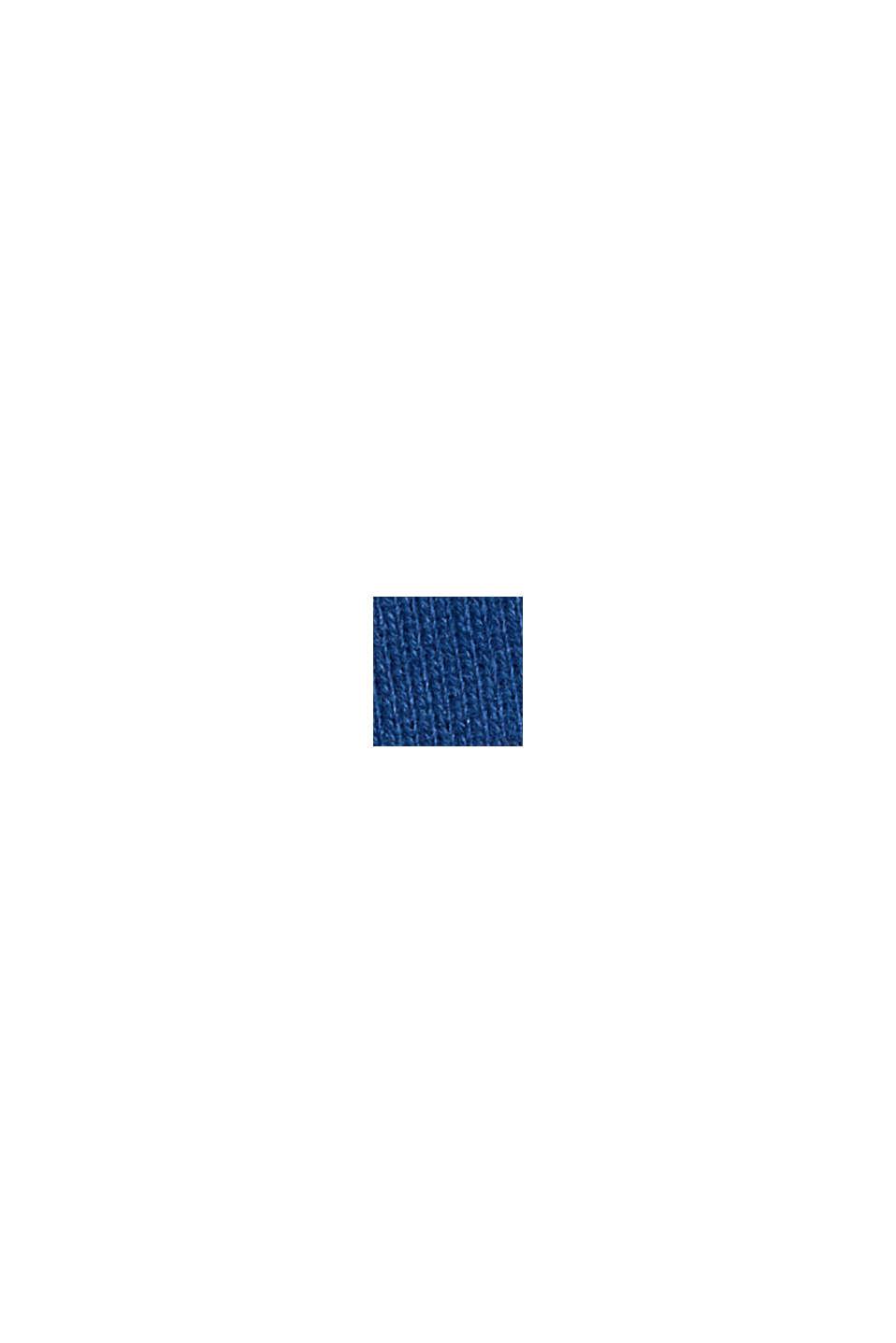 Sweatshirt in 100% cotton, DARK BLUE, swatch