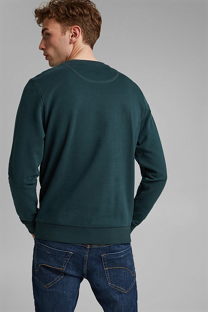 Sweat-shirt 100% coton, TEAL GREEN, detail image number 3