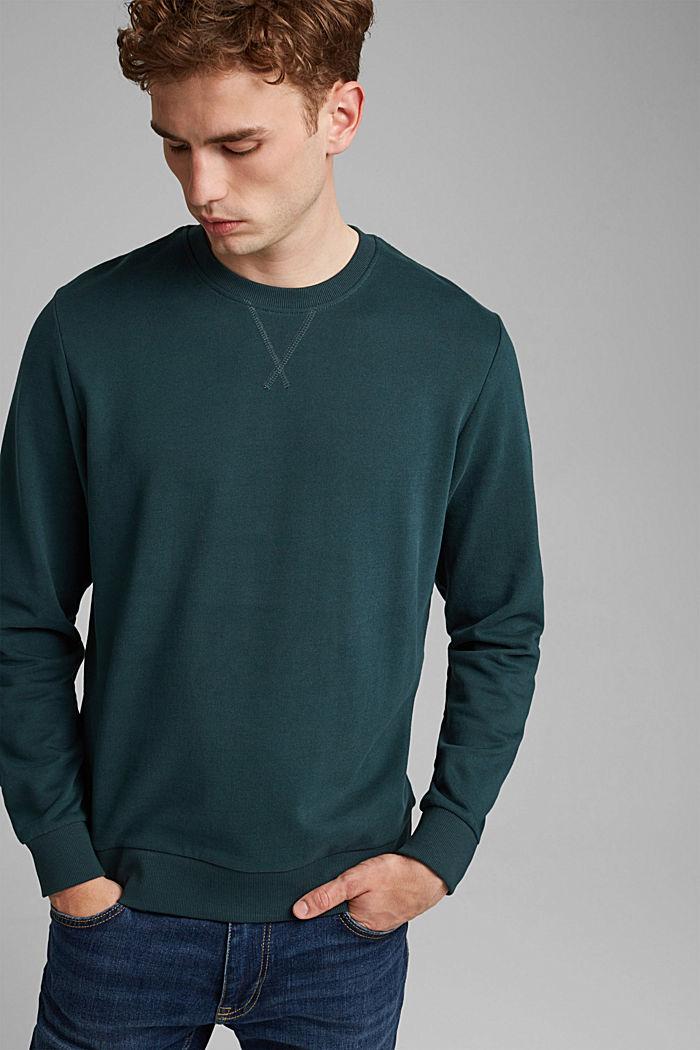 Sweat-shirt 100% coton, TEAL GREEN, detail image number 4