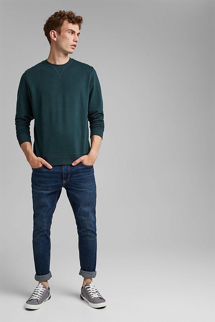 Sweat-shirt 100% coton, TEAL GREEN, detail image number 1