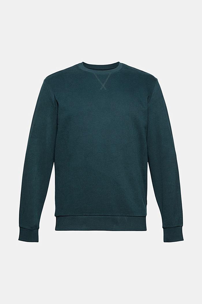 Sweat-shirt 100% coton, TEAL GREEN, detail image number 6