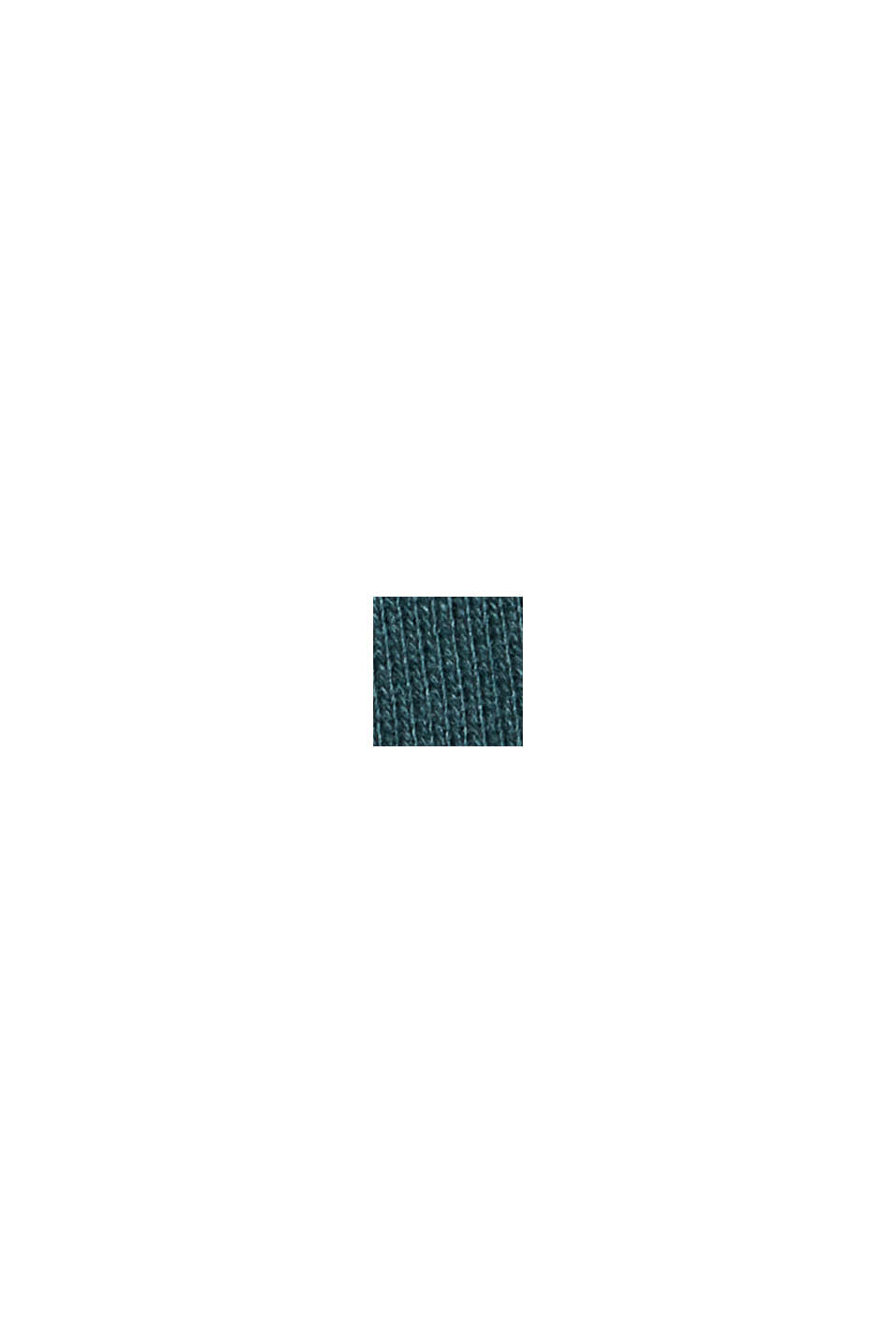 Sweatshirt in 100% cotton, TEAL GREEN, swatch