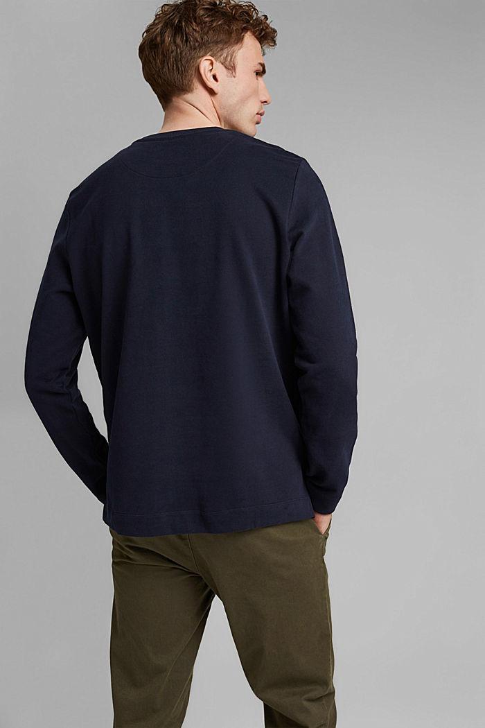 Sweatshirt met zak en print, 100% katoen, NAVY, detail image number 3