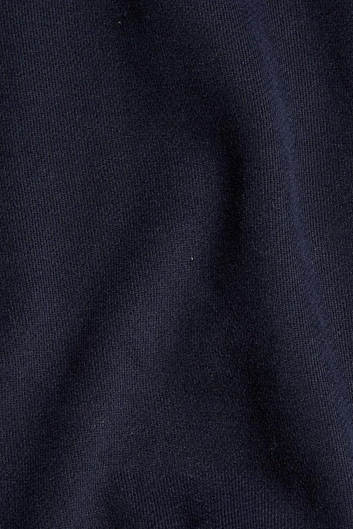 Sweatshirt met zak en print, 100% katoen, NAVY, detail image number 4