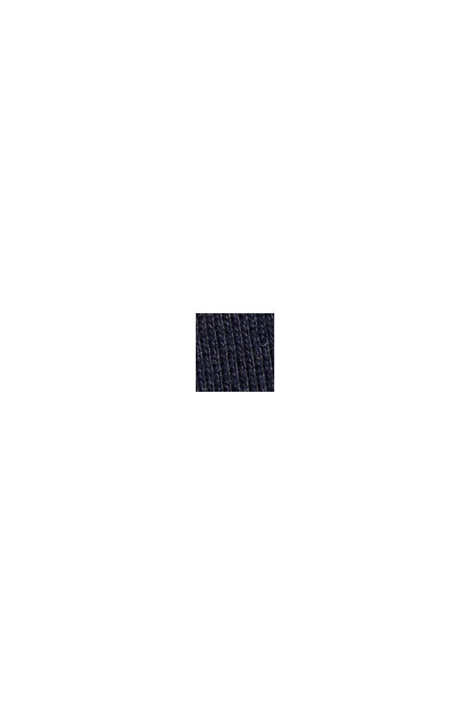 Sweat-shirt à poche et imprimé, 100% coton, NAVY, swatch