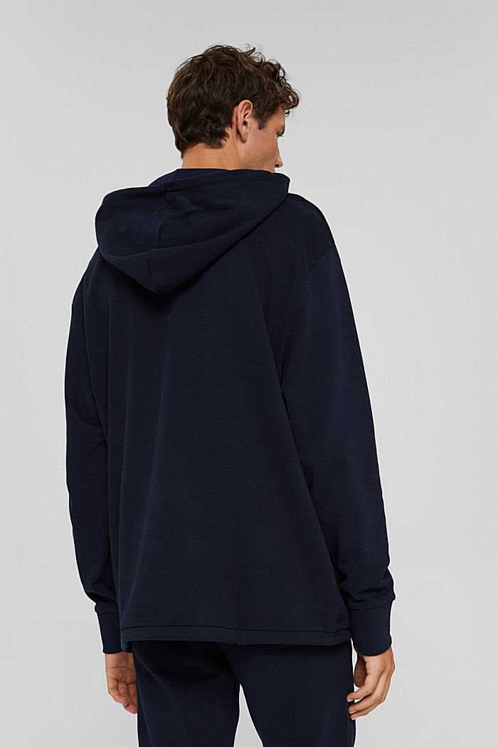 Hoodie in 100% cotton, NAVY, detail image number 3