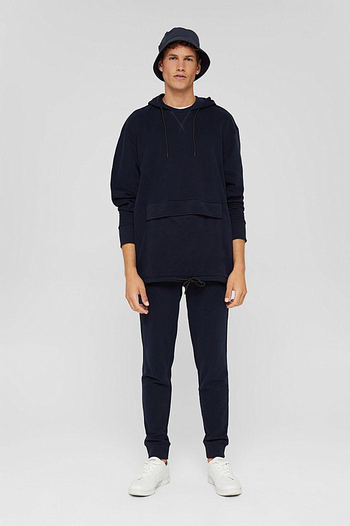 Hoodie in 100% cotton, NAVY, detail image number 1