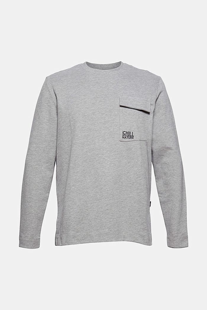 Sweat-shirt à poche plaquée