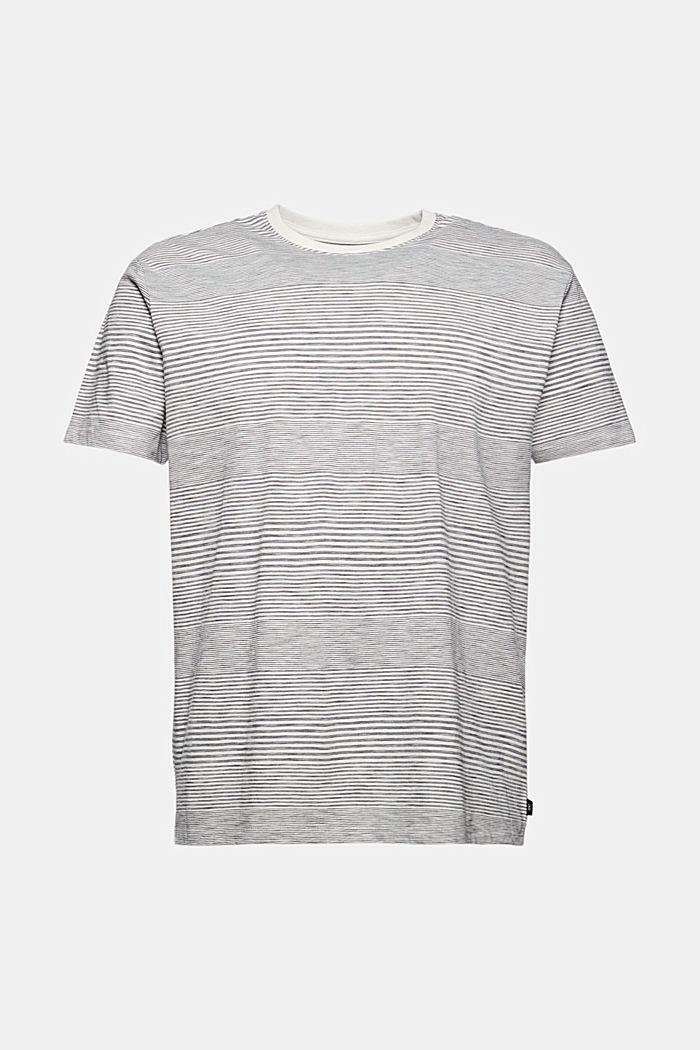 Striped jersey T-shirt made of organic cotton