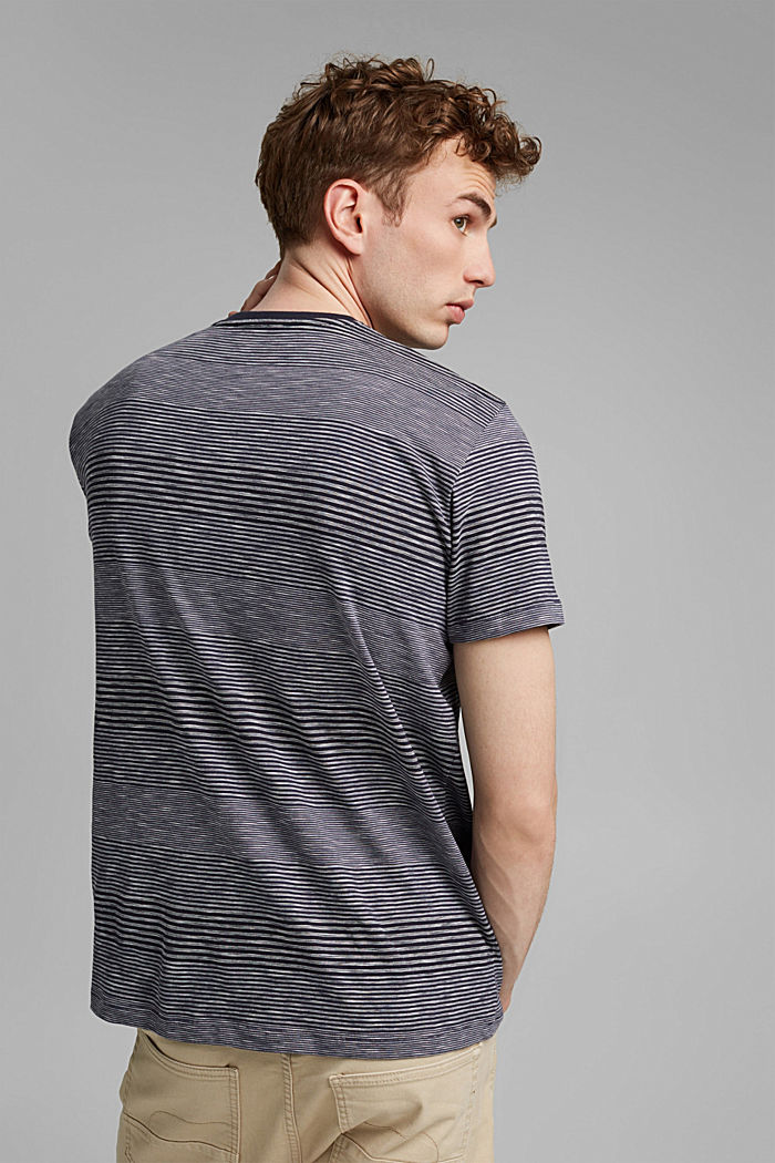 Striped jersey T-shirt made of organic cotton, NAVY, detail image number 3