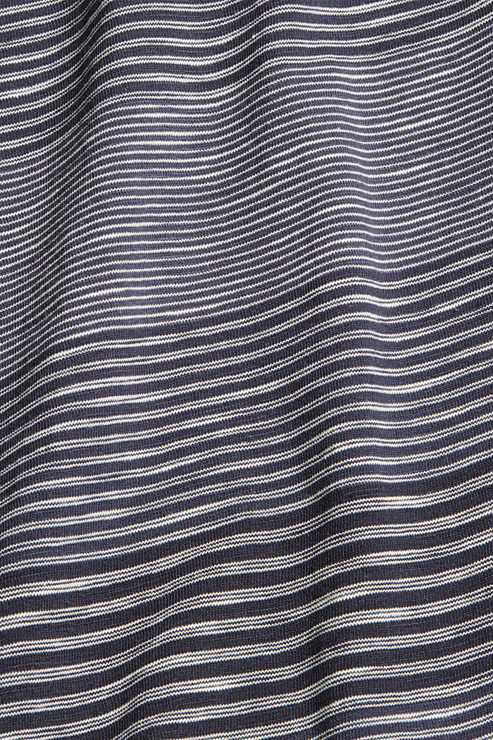 Striped jersey T-shirt made of organic cotton, NAVY, detail image number 5