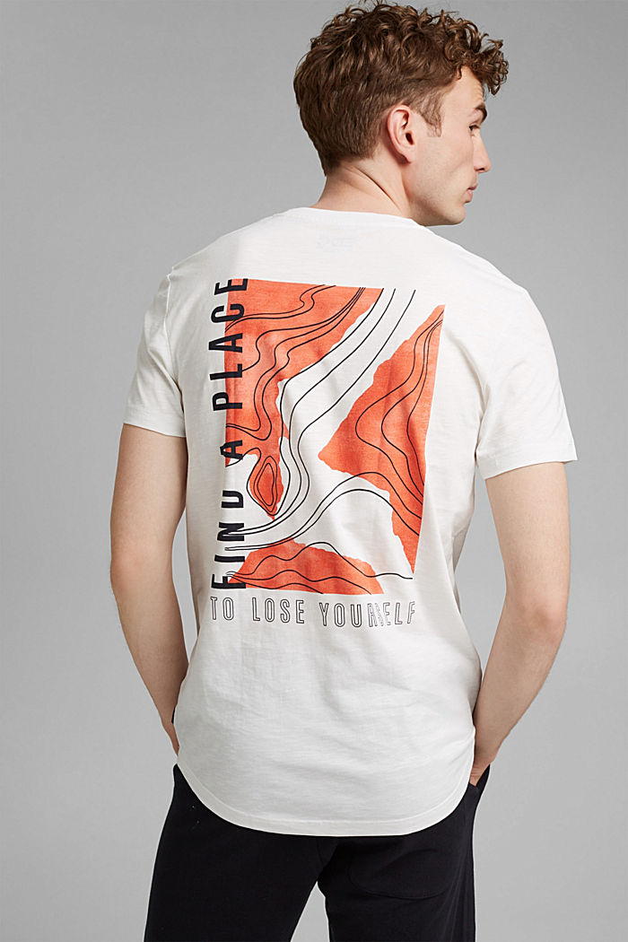 Jersey-T-Shirt mit Print, 100% Bio-Baumwolle, OFF WHITE, detail image number 3
