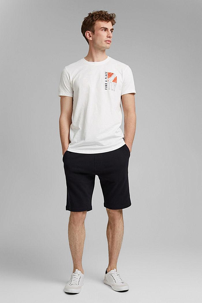 Jersey-T-Shirt mit Print, 100% Bio-Baumwolle, OFF WHITE, detail image number 2