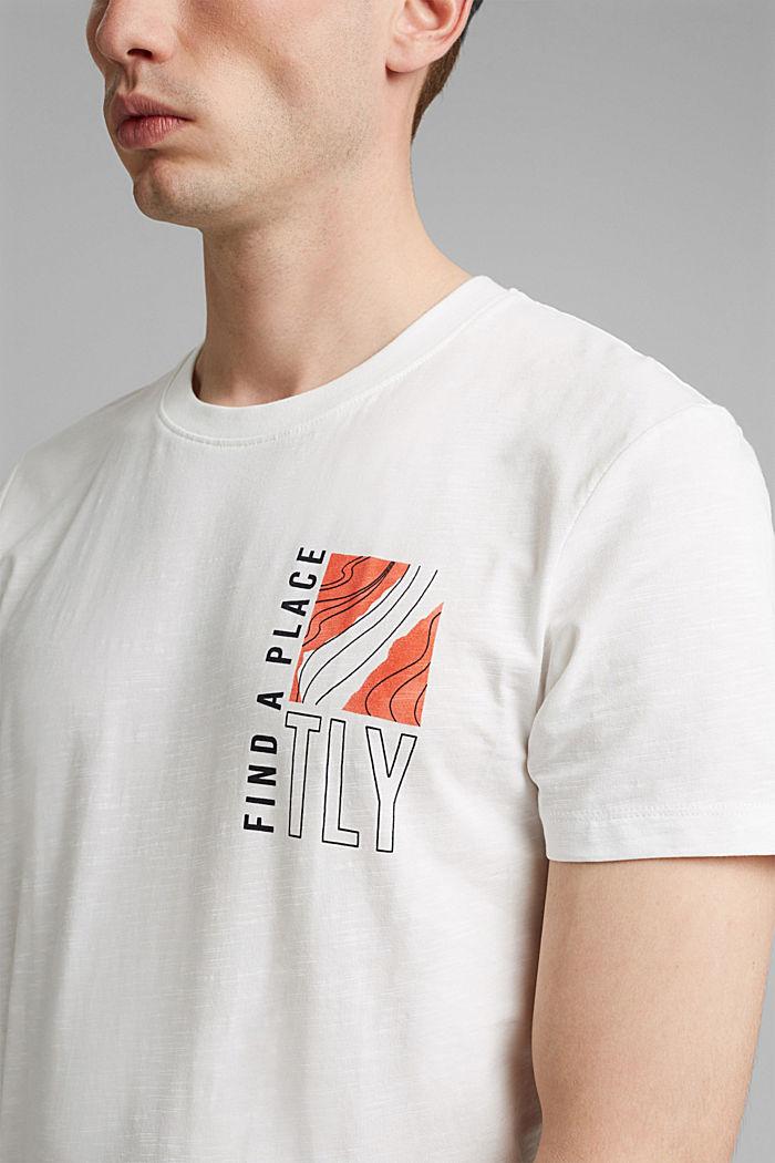 Jersey-T-Shirt mit Print, 100% Bio-Baumwolle, OFF WHITE, detail image number 1