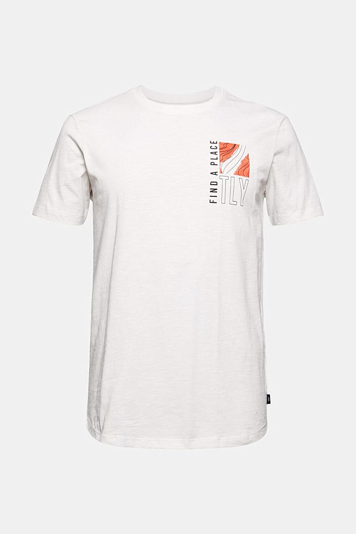 Jersey-T-Shirt mit Print, 100% Bio-Baumwolle, OFF WHITE, detail image number 5