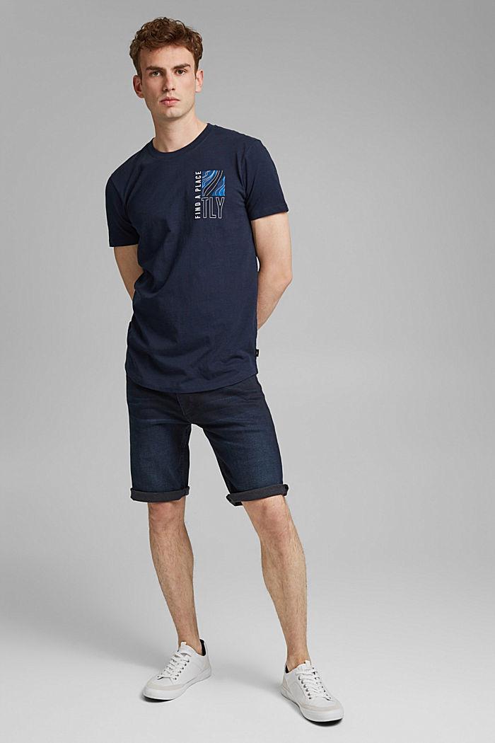 Jersey-T-Shirt mit Print, 100% Bio-Baumwolle, NAVY, detail image number 2