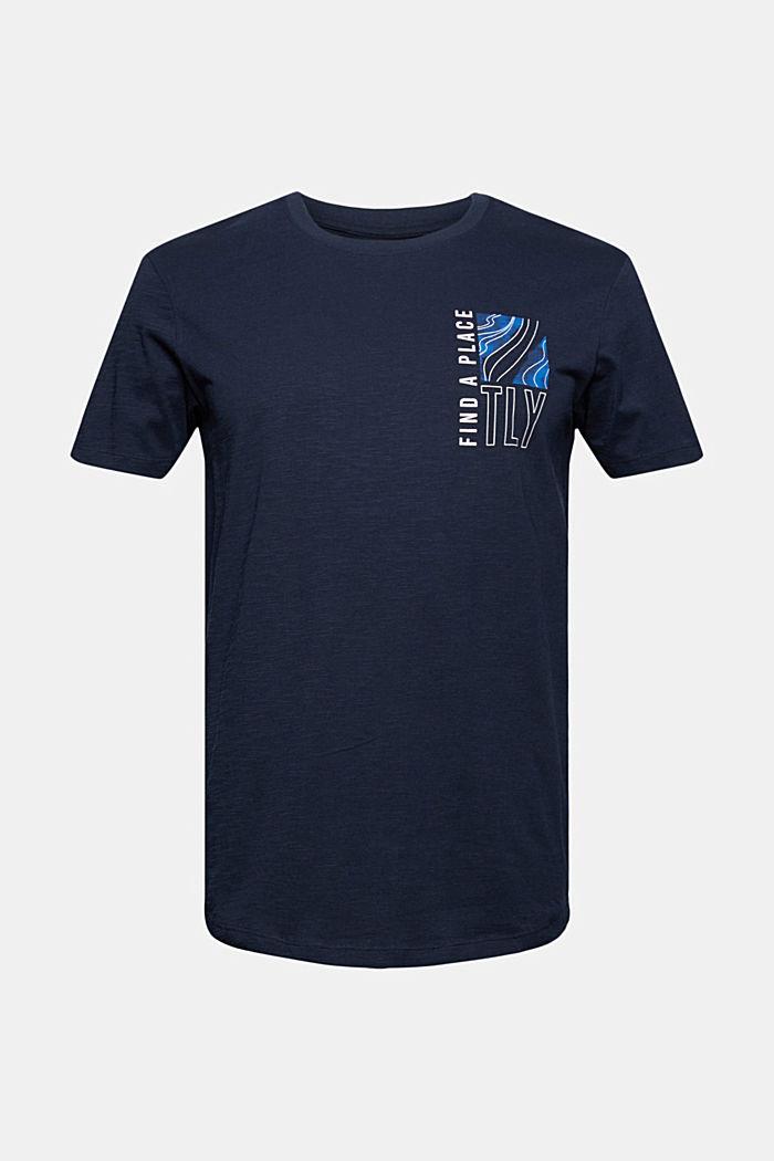 Jersey-T-Shirt mit Print, 100% Bio-Baumwolle, NAVY, detail image number 5