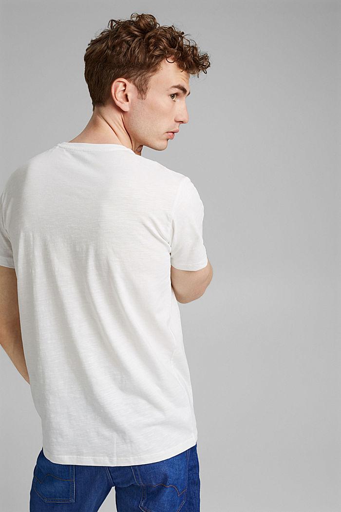 T-shirt en jersey doté d´un imprimé, 100% coton bio, OFF WHITE, detail image number 3