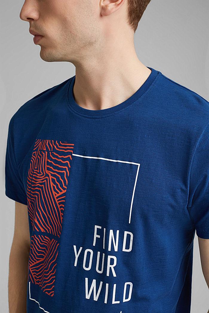 Jersey-T-Shirt mit Print, 100% Bio-Baumwolle, DARK BLUE, detail image number 1