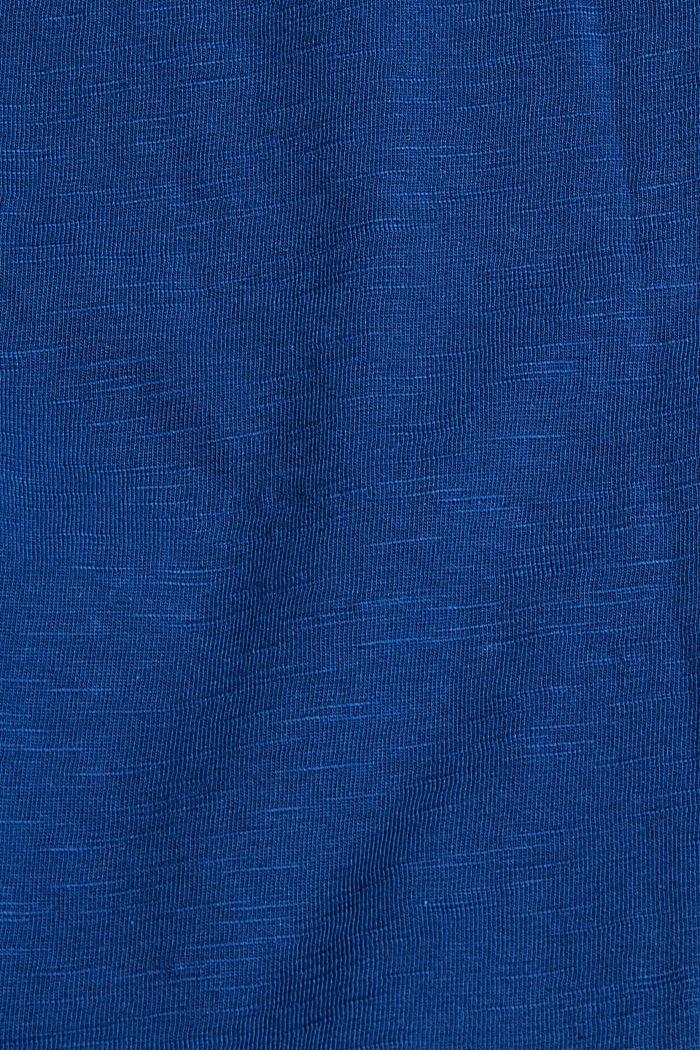 Jersey-T-Shirt mit Print, 100% Bio-Baumwolle, DARK BLUE, detail image number 4