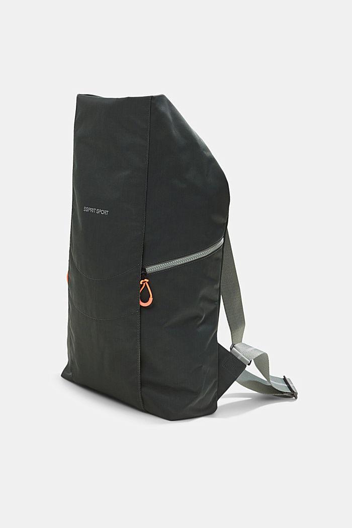 Nylonowy plecak SPORT z klapą, DARK KHAKI, detail image number 2