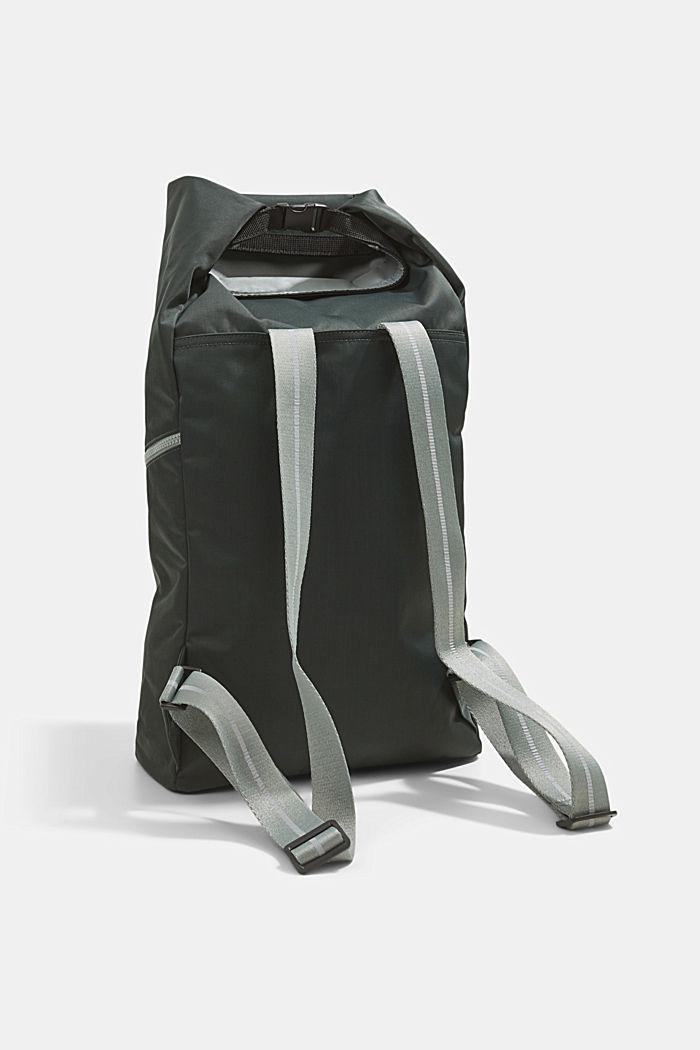 Nylonowy plecak SPORT z klapą, DARK KHAKI, detail image number 5
