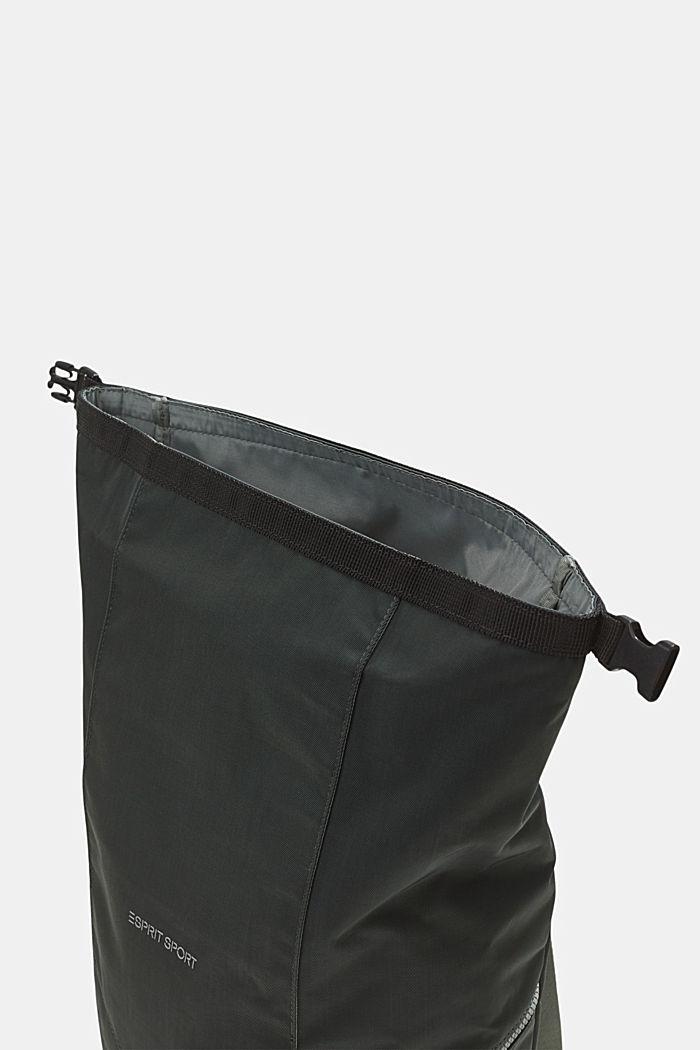 Nylonowy plecak SPORT z klapą, DARK KHAKI, detail image number 4