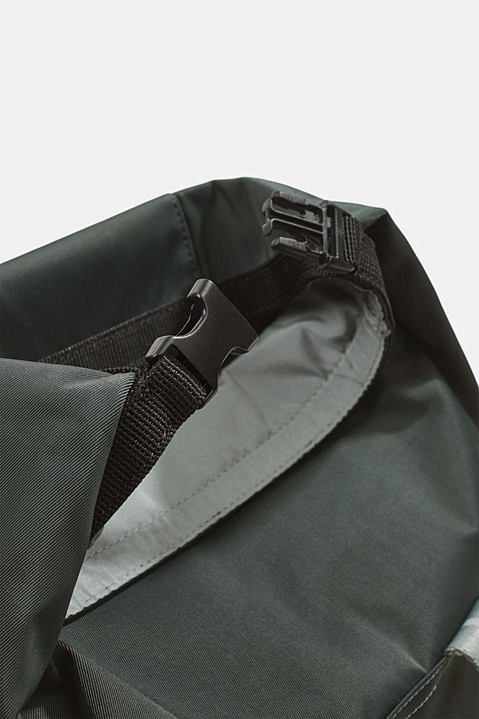 Nylonowy plecak SPORT z klapą, DARK KHAKI, detail image number 3