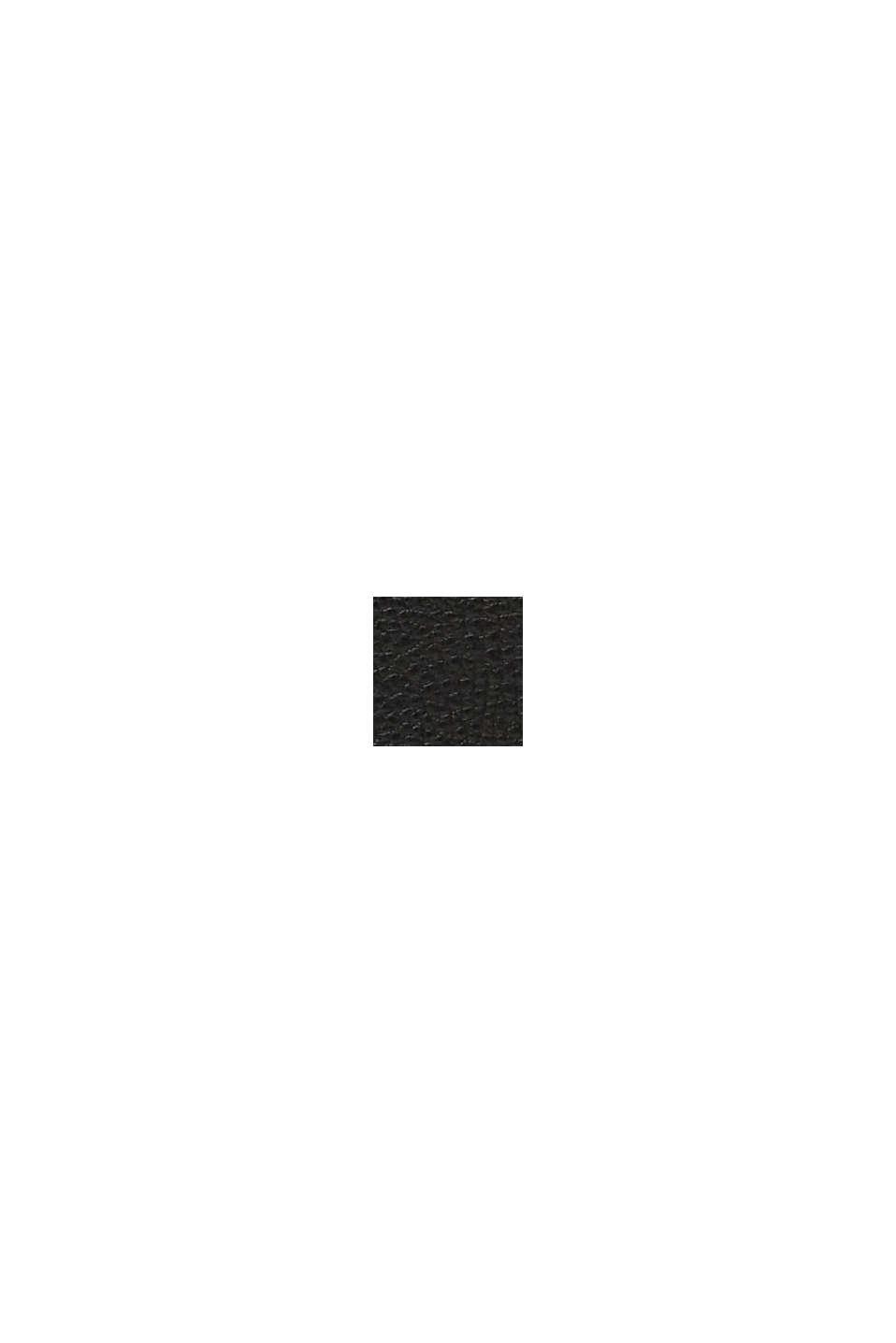Veganský produkt: kabelka přes rameno ve vzhledu kůže, BLACK, swatch