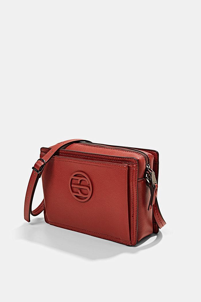 Végane: le sac bandoulière en similicuir, TERRACOTTA, detail image number 2