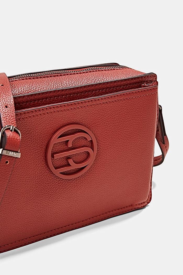 Végane: le sac bandoulière en similicuir, TERRACOTTA, detail image number 3