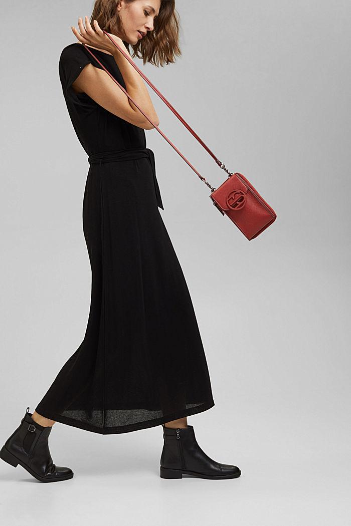 Vegan: smartphone bag with purse, TERRACOTTA, detail image number 1