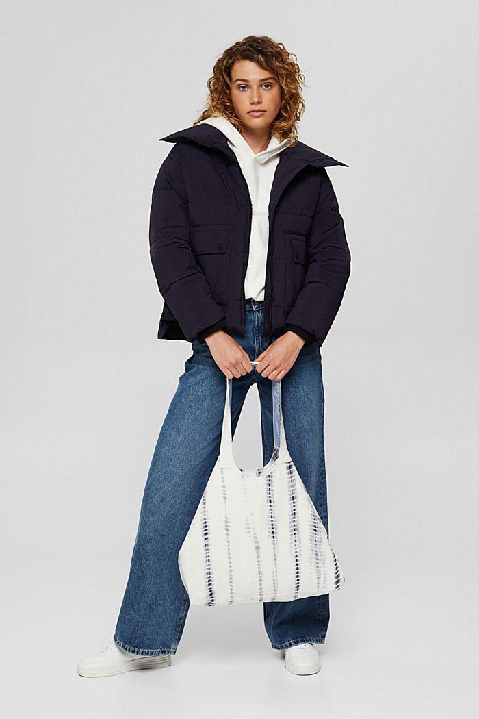 Shopper aus 100% Baumwolle, GREY BLUE, detail image number 1