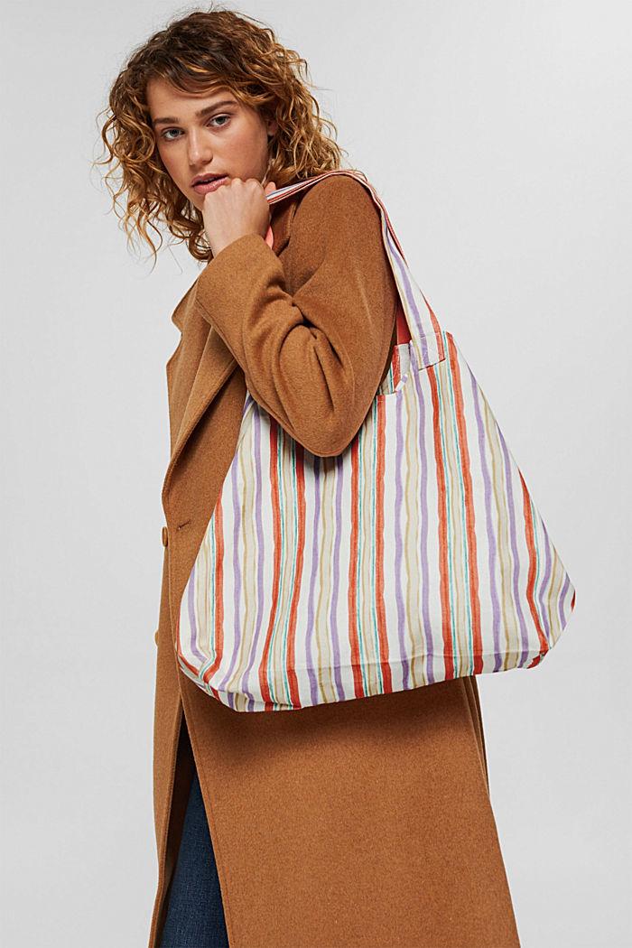 Shopper aus 100% Baumwolle, VIOLET, detail image number 1