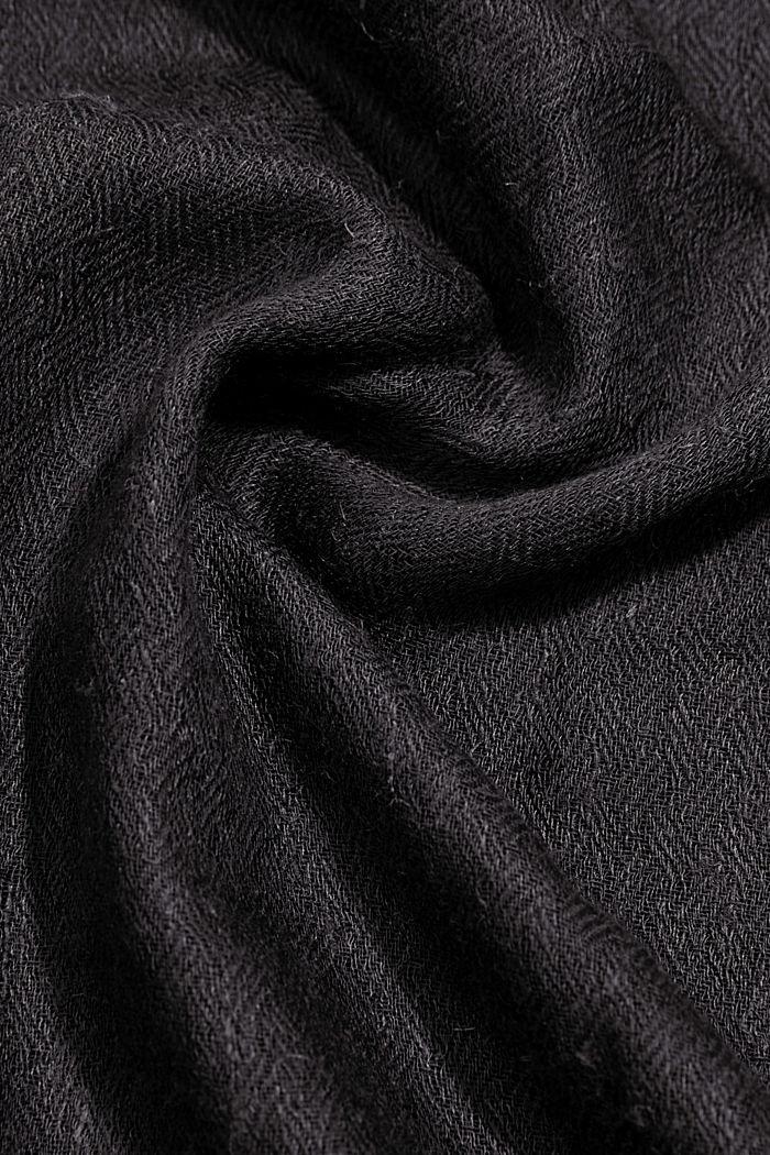 Foulard à teneur en LENZING™ ECOVERO™, BLACK, detail image number 2