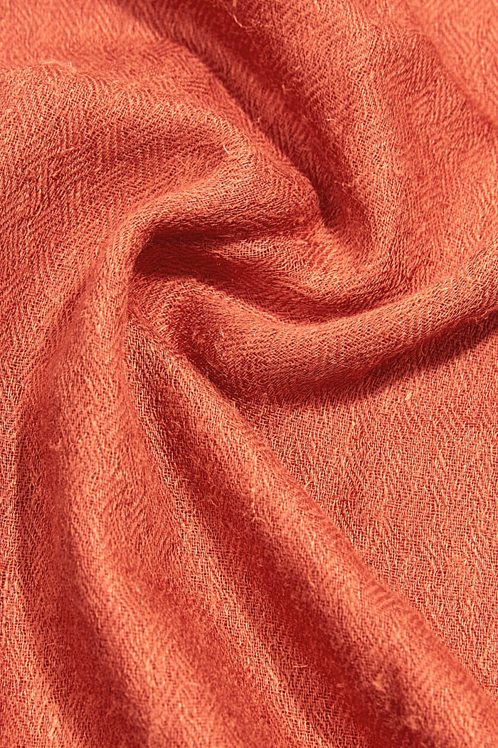 Tuch mit LENZING™ ECOVERO™, TERRACOTTA, detail image number 2