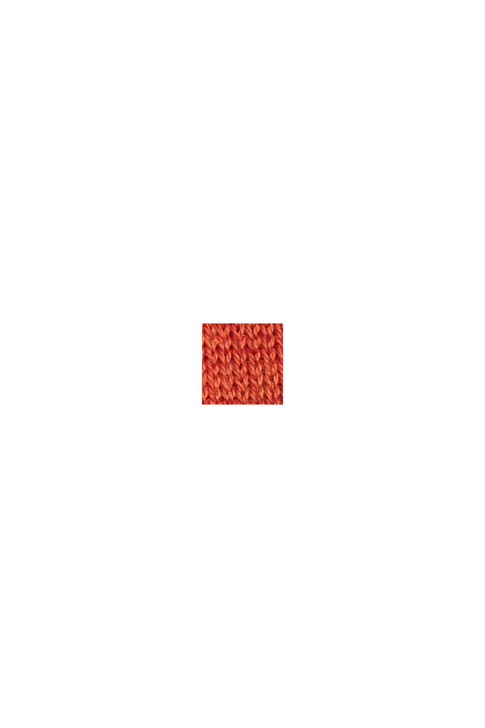 Wool blend: knit poncho with frayed edges, TERRACOTTA, swatch