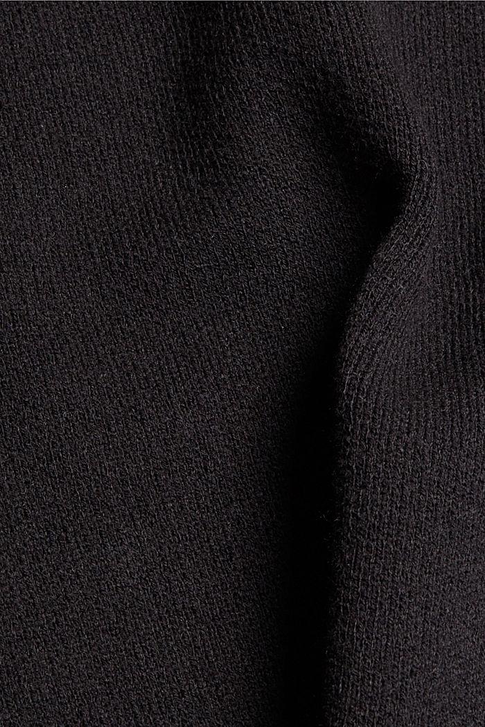 Z recyklovaného materiálu: rozevřené pončo s šálovým límcem, BLACK, detail image number 2