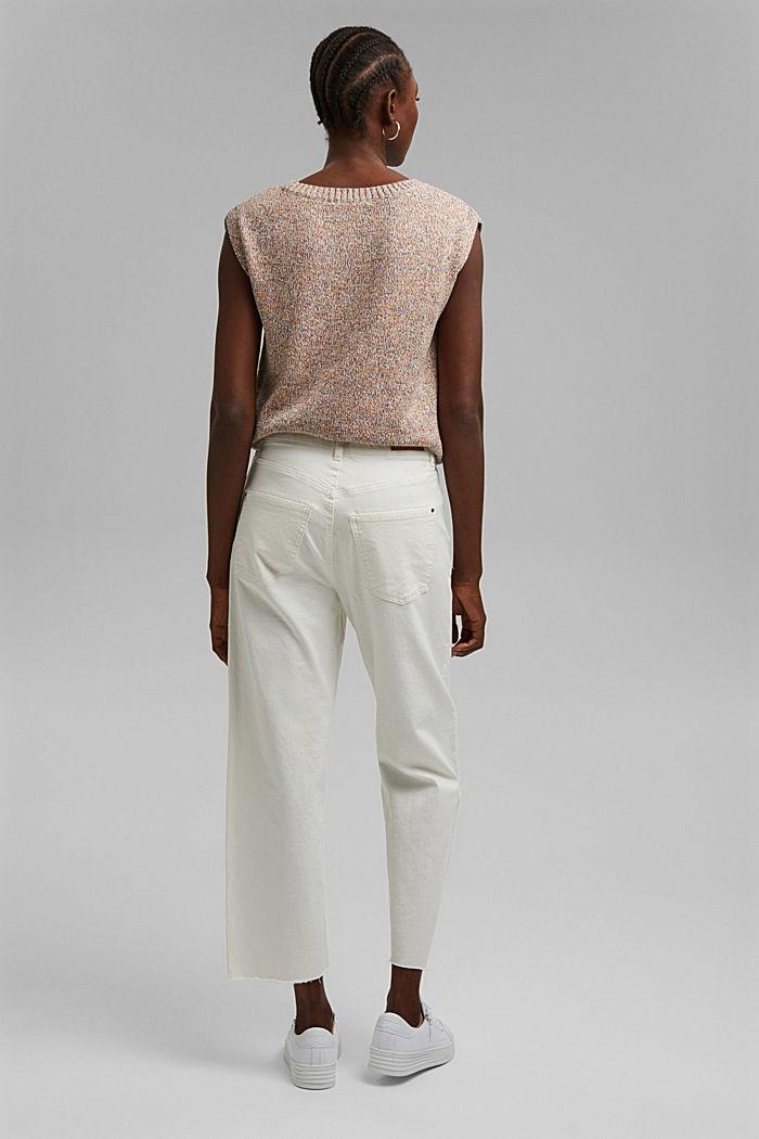 Pohodové 7/8 kalhoty v sepraném vzhledu, bio bavlna, OFF WHITE, detail image number 3