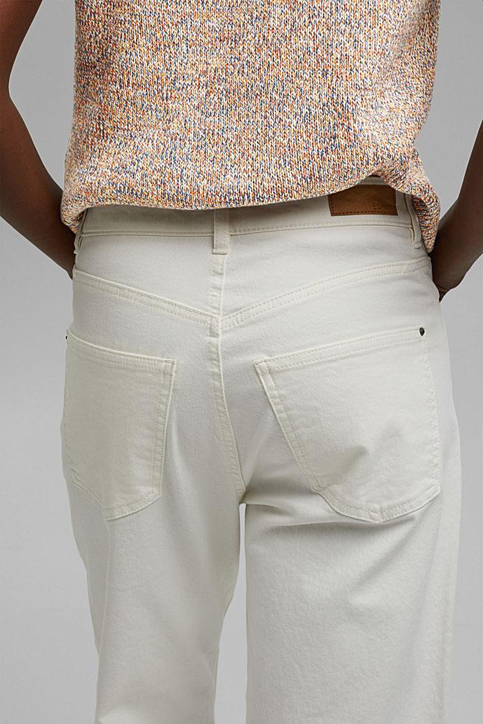Pohodové 7/8 kalhoty v sepraném vzhledu, bio bavlna, OFF WHITE, detail image number 2