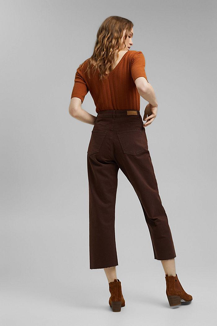Relaxte 7/8-broek met een washed look, biologisch katoen, RUST BROWN, detail image number 3