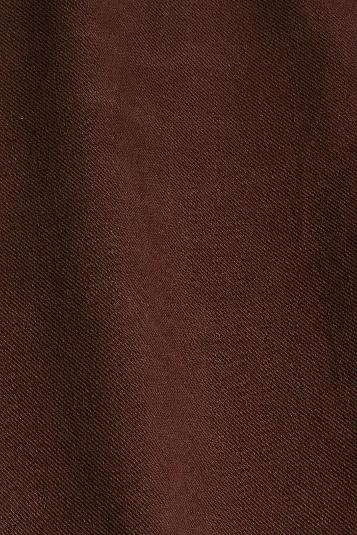 Relaxte 7/8-broek met een washed look, biologisch katoen, RUST BROWN, detail image number 4