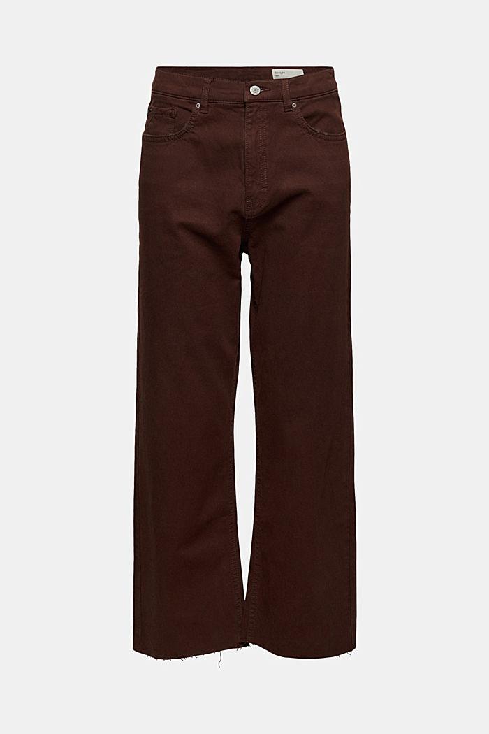 Relaxte 7/8-broek met een washed look, biologisch katoen, RUST BROWN, detail image number 6