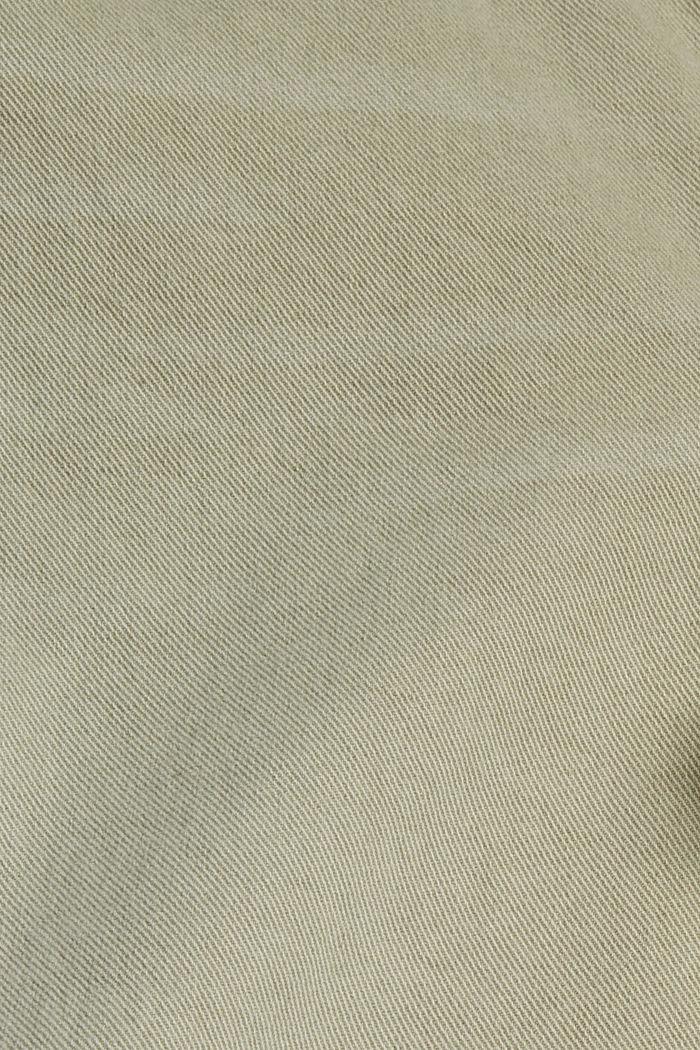 Relaxte 7/8-Hose im Washed-Look, Bio-Baumwolle, PASTEL GREEN, detail image number 4